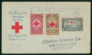 Mayfairstamps Nicaragua 1944 Red Cross Box Cancel First Day Cover wwr7517
