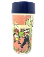 1973 Raggedy Ann and Andy Aladdin Lunchbox Thermos Only In Good Condition Tested