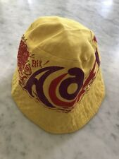 Vintage ACAPULCO Yellow Red Bucket Beach Sun Sailfish Peace Hat