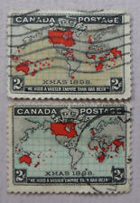 Canada Postage Stamps 1898 Introduction of Penny Post Color Varieties Used