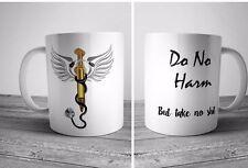 Do No Harm But Take No Funny Coffee Mug Caduceus Vet Nurse Doctor Gift Novelty
