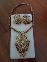 Ethnic indian bollywood fashion jewelry set festive necklace set