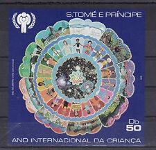 Sao Tome & Principe Bl.34** YEAR OF THE CHILD 1979 UN ENFANT UNITES NATIONS