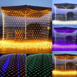 3X2M/6x4M 320/672LEDs Net String Lights Lighting Waterproof Xmas Garden Party UK