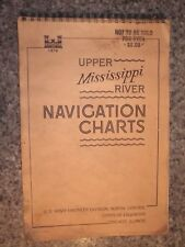 Vintage 1978 Navigation Charts Upper Mississippi US Army Corp of Engineers