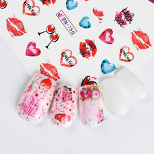 Nail Art Water Decals Stickers Transfers Valentines Day Love Hearts BN756