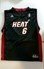 MIAMI HEAT #6 BASKETBALL JERSEY SIZE X LARGE LEBRON JAMES ADIDAS NBA USED CONDT.