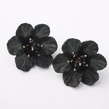 Acrylic Big Petal Flower Earrings For Women Wedding Crystal Ear Stud Earrings