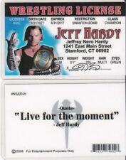 LIVE FOR THE MOMENT wrestler JEFF HARDY  Drivers License fake id card
