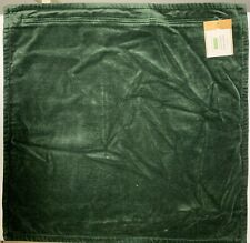 Pottery Barn Washed Velvet Pillow Cover 20x20 in, Hunter Green, Free Shipping