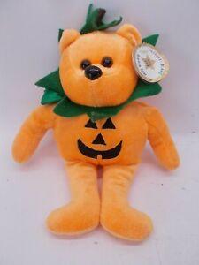 "Halloween Pumpkin Bear JC Celebrity Bear Star #94 Plush Jack-O-Lantern 9"""