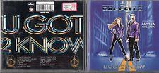 CAPPELLA CD fuori catalogo U GOT 2 KNOW  1994  BONUS TRACK GIGAMIX