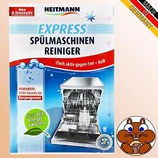 HEITMANN Express Spülmaschinen Reiniger 2fach aktiv gegen Fett + Kalk Beutel