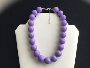 Women's Chunky Lilac Bead Choker Necklace