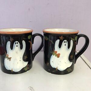 Ghost Halloween Mugs Susan Winget Ceramic Certified International 22 fl oz Cup