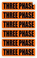 Three Phase Voltage & Conduit Markers Decals Electrical 6x