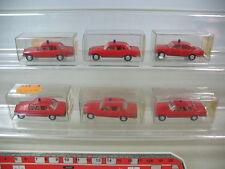h232-0,5 #6x WIKING H0 MERCEDES Auto capo dei pompieri, 12 600, NUOVO + OVP