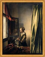 Girl Reading a Letter by an Open Window Jan Vermeer Brief Fenster B A2 02471