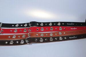 Champion, Dog Strong Leather Padded Studded Collar Rottweiler , Shepherds Dog