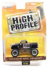 High Profile Black Hummer H3T Concept 1/64 Diecast collector #030 Jada Toys