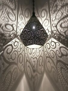 Moroccan Pendant Light, Decorative, Lamp, Farm house, Country home, Art Deco