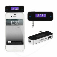 In-car 3.5mm Jack LDC Screen FM Transmitter Radio Adapter for iPhone5 5s 5c