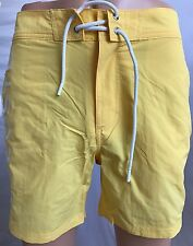 New Lacoste Mens Yellow Logo Board Swim Trunks / Shorts Size S - Free Shipping