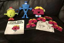 Mr Men /Little Miss  Freestanding Figure Bundle 3 Piece Cool Splendid Chatterbox