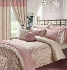 Luxury Embroidery Duvet Set,Curtains, Pillow, Throws & Cushion Covers Set Marie