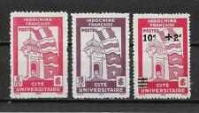 Complete series 3 new stamps* French INDOCHINA  1944.  University City  (5052)