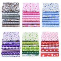 7PCS DIY Square Floral Cotton Fabric Patchwork Cloth For Craft Sewing 25*25cm