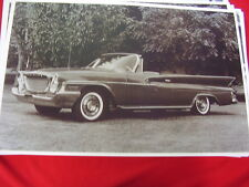 1961 CHRYSLER CONVERTIBLE   BIG 11 X 17  PHOTO /  PICTURE