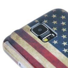 HardCase für Samsung i9600 Galaxy S5 Retro Flagge Amerika USA Schutzcase Hülle