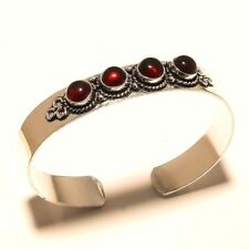 Stylish Silver Plated Garnet Cuff Bracelet Bangel Gemstone Jewelry