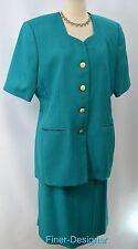 Amanda Smith career S/S blazer jacket 2 piece skirt suit light set SZ 16 NEW VTG