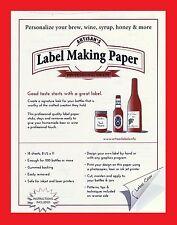 WINE LABELS GUMMED LABEL PAPER FOR BEER WINE MOONSHINE JELLY SYRUP KOMBUCHA GIFT