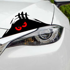 1x Monster Red Eyes Peeper Funny Car Sticker PET Fashion Top Bumper Window Decal