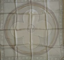 Authentic Beautiful Louis Vuitton logo foulard scarf carre ITALY 100% SILK