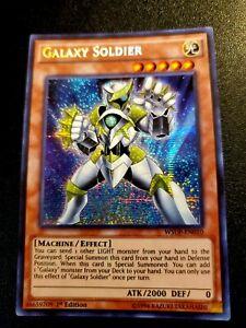 YUGIOH! 1-GALAXY SOLDIER-SECRET RARE-1ST EDITION-WSUP-EN010