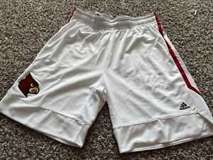 Authentic Adidas GAME ISSUED Louisville Cardinals Basketball shorts Sz.3XL+2 WHT