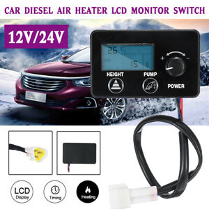 LCD Monitor Switch Track Remote Controller For 24V Car Air Diesel Parking