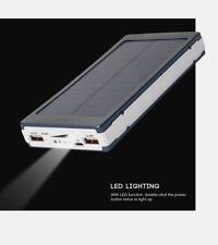 Waterproof 50000mah Power Bank 2 USB 2 LED Battery Charger for Iphonex 8 8plus 7 Black Orange