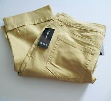 Style&Co.Womens Curvy Fit Cuffed Capri Jeans Light Mango Sz 14 - NWT
