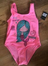PRIMARK GIRLS MERMAID BRIGHT PINK SWIMSUIT SWIMWEAR BNWT ALL AGES