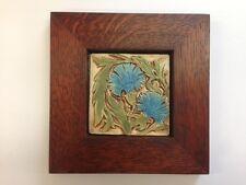B.A. Schmidt William De Morgan Carnations Art Tile Family Woodworks Frame Craft