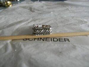Premier Designs CALEB silver stackable ring set sz 9 RV $36 free ship nwt