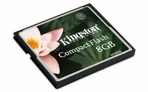 Kingston 8GB Compact Flash CF fast Speed Memory Card CF/8GB for Cameras