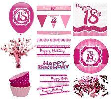 Tutto rosa compleanno adulto per la tavola per feste e party