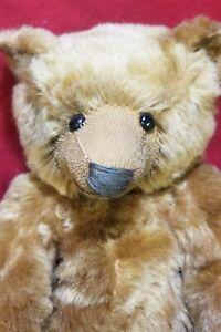 "Sarah McClellan ""Old Bear"" OOAK artist teddy bear 16"" mohair w/ picture record"