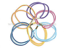 PACK OF 6 DOUBLE HAIRBANDS IN NEON & RAINBOW COLOURS STRIPES HAIR PONIES NEW